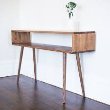 mid century entry table mid century inspired sofa table entry table made to order