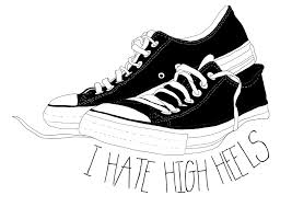 Converse High Heels I High Heels Converse Shoes Drawing Etsy Illustration For