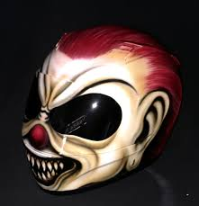 killer clown mask killer clown mask helmet custom airbrush helmet