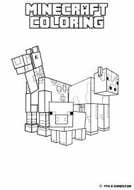 48 minecraft color pages images drawing