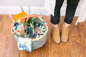 housewarming basket with summer camp u2022