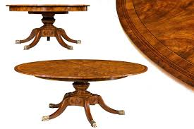 Mahogany Dining Room Furniture Round Mahogany Jupe Table For Sale Large Round Expanding Table