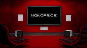 in wall speakers home theater home theater experience powered by monoprice youtube