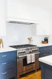 blue bottom and white top kitchen cabinets studiomcgee lynwood beckykimballphoto 65 jpg kitchen