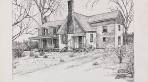 pencil drawing of house drawing pencil