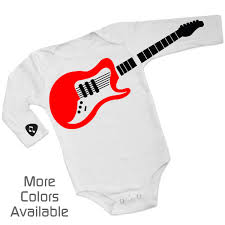personalized guitar playing baby one piece