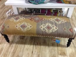 kilim rug ottoman bench fresh vintage nc