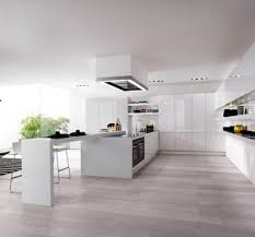 Big Kitchen Design Colorful Kitchens Modern White Kitchens With Wood Floors