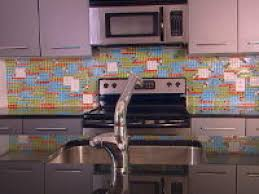 how to install a kitchen tile backsplash hgtv how to create a colorful glass tile backsplash