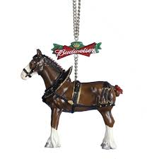 budweiser clydesdale tree ornament