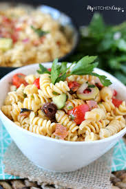 pasta salad lite u0026 healthy my kitchen craze