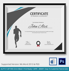 fun certificate templates fun run certificate template running certificate template 4 free