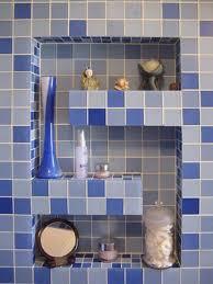 Blue Glass Tile Bathroom - glass tile bathroom photos to spark your imagination