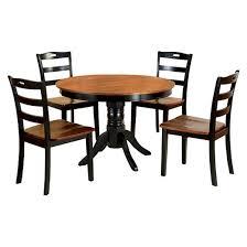 Black And Wood Dining Table Sun U0026 Pine 5pcs Brighton Dining Table Set Wood Galaxy Black