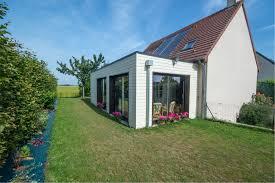 maison bois interieur extension en ossature bois à colleville calvados maisons d