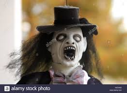 Scary Outdoor Halloween Decorations by Scary Puppet As Outdoor Halloween Decoration Stock Photo Royalty