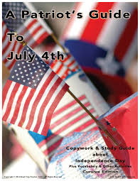 are study guides july 4th study guide print u0026 cursive edition combo pack family