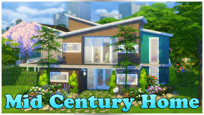 the sims 4 speed build mid century home youtube