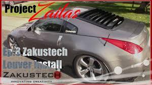 nissan 350z rear diffuser project zailas ep 8 350z zakustech louvers v2 install youtube