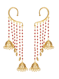 stylish gold earrings umbrella gold ear cuffs ekatrra gold earring fashionable