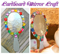 jeweled cardboard mirror craft u2013 the pinterested parent