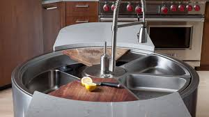 The Private Yacht Of Kitchen Sinks Has Room For Weeks Of Dirty Dishes - Round sinks kitchen
