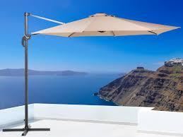 Cantilever Patio Umbrella Cantilever Patio Umbrella Beige Savona Beliani