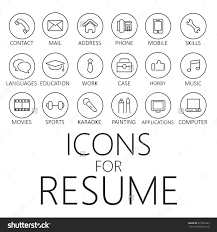 tips for your thin resume presentable thin line icons pack for cv resume cvicon icon