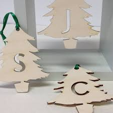 tree decorations letter initial letter tree