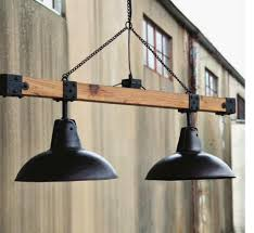 warehouse lights beam industrial vintage style decorating