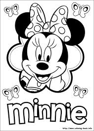 minnie mouse clubhouse coloring pages cartoon pictures