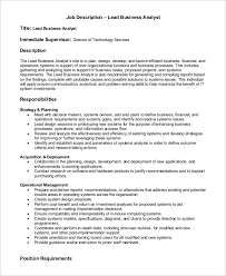 It Business Analyst Job Description Resume Business Analyst Job Description Permalink To Business Analyst