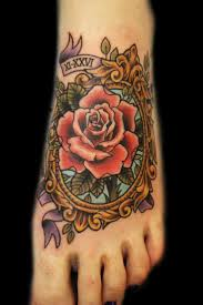 22 best rose foot tattoo images on pinterest body art tattoos