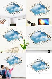 best 25 blue wall stickers ideas on pinterest vinyl wall visit to buy 1pc 3d cracked sky blue wall sticker diy 3d wall sticking