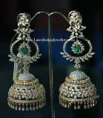 heavy diamond earrings 55grams heavy jhumkas traditional gold jhumkas collection