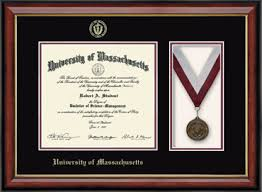 diploma frames of massachusetts amherst medal diploma frame in