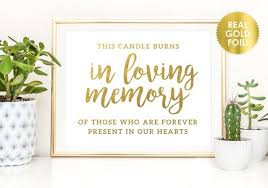 in loving memory wedding sign this candle burns in memory signs in loving memory wedding sign