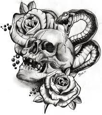 flaming skull heart n dagger tattoo design photo 1 2017 real