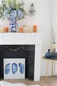 Decorating My Home Fall Mantel Decorating Ideas In Blue Shabbyfufu