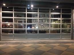 full view glass door glass garage door cost modern home