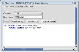 Change Table Name Oracle Oracle Rename A Column On An Oracle Database Table Using The Alter