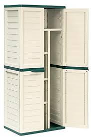6ft Waterproof Lockable Garden Storage Cabinet Shed Amazon Co