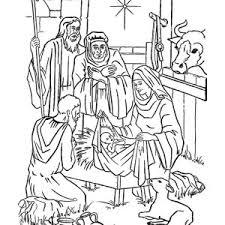 birth of jesus coloring page jesus nativity in cartoon depiction coloring page color luna