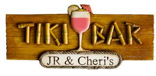 Personalized Signs For Home Decorating Personalized Tiki Bar Sign Tiki Bar Plaque Tropical Decor Sign