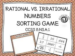 rational vs irrational numbers sorting activity is a quick and
