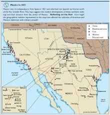 map of mexico 1821 1821 independent mexico revolution legacy maps