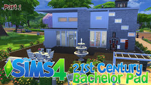 sims 4 house building 21st century bachelor pad part 1 youtube