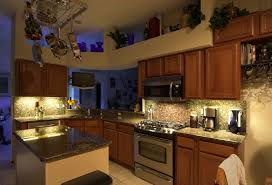 recessed kitchen cabinet lighting with energy saving led strip lights