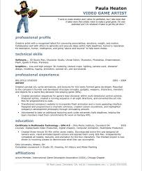 free art resume templates video game artist free resume sles blue sky resumes