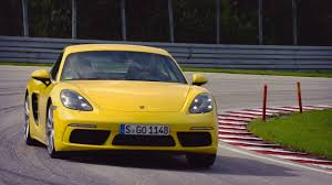 porsche yellow 2017 porsche 718 cayman s racing yellow full throttle youtube